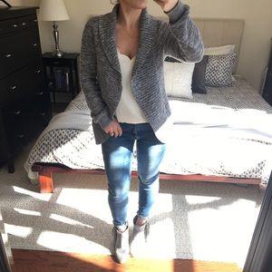 | uber cozy ruffle cardigan sweater |